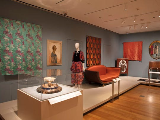 """This undated photo provided by the Cooper Hewitt, Smithsonian Design Museum, shows an Installation view of """"The Jazz Age: American Style in the 1920s."""""""