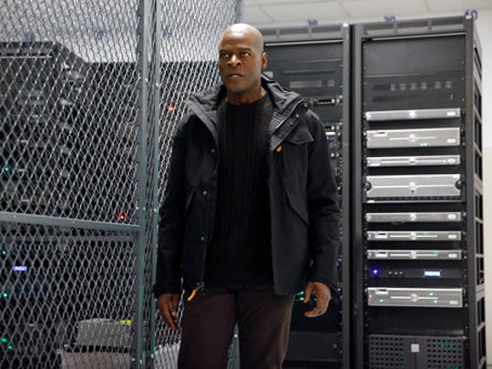 """In this image released by NBC, Hisham Tawfiq portrays Dembe Zuma in a scene from """"The Blacklist,"""" airing Thursday at 9 p.m. ET."""