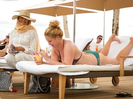 Goldie Hawn, left, and Amy Schumer in a scene from