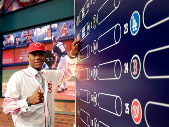 Hunter Greene, a pitcher and shortstop from Notre Dame
