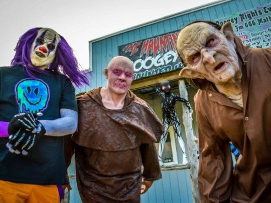 The Hauntings of Boogeyman is an over-3,000-square-feet maze of monsters and scares located at 4813 Farm-to-Market Road 666, Mathis (near Calallen).