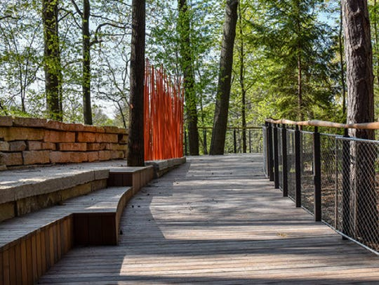 A canopy walk, scheduled to open in October, will allow