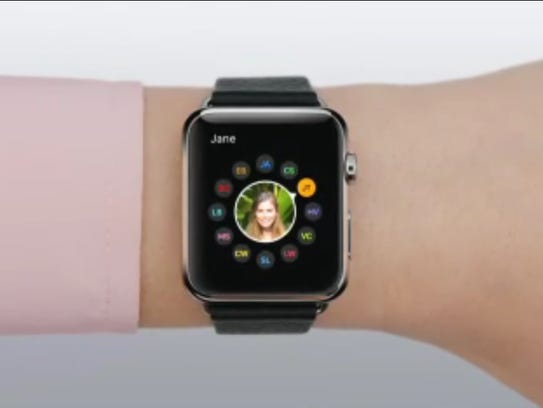 An image from the Apple Watch guided tour videos shows