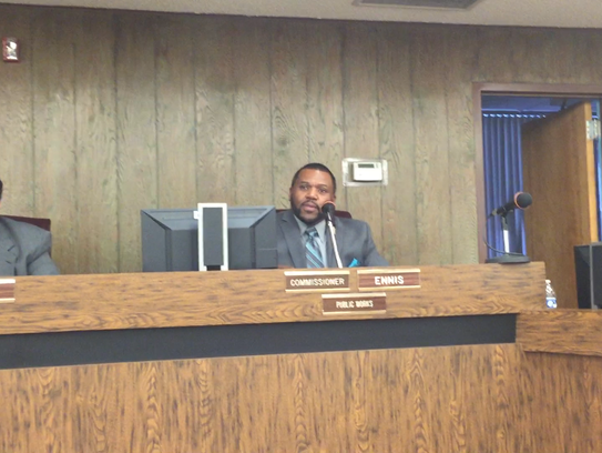Millville City Commissioner David Ennis (right) said