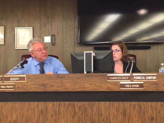 City Commissioner Joseph Sooy questions Solicitor Brock