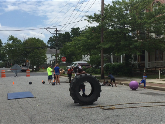 Physical fitness was stressed at Wednesday's Play Streets