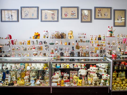 The Lucky Cat Museum is Micha Robertson's personal collection of more than 1,000 Lucky Cats. It's open from 3 to 6 p.m. Tuesday-Saturday, and during Essex Studios Art Walks.