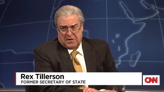 John Goodman spoofs Rex Tillerson on 'Saturday Night Live.'