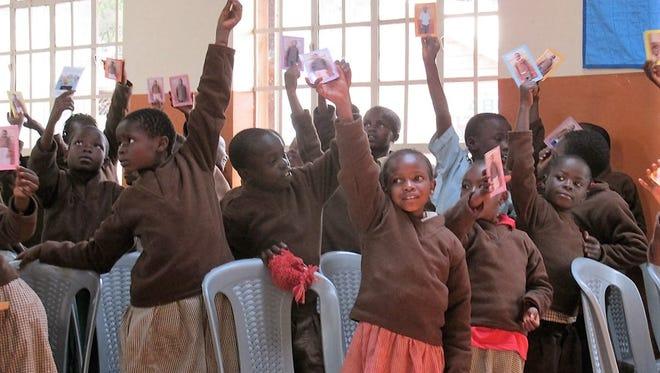 Students in Kenya.