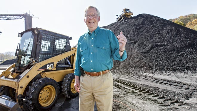 U.S. Sen. Mitch McConnell, visited a coal tipple operation in Manchester, Ky., in October.