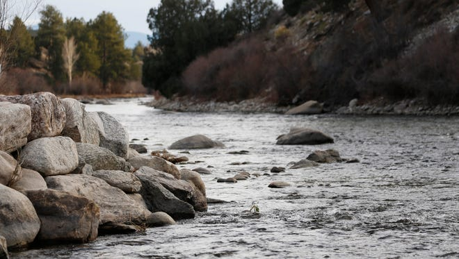 The Arkansas River flows through the proposed national monument in Browns Canyon north of the town of Salida, Colo., in the state's southwestern mountains. President Obama will designate it as a national monument Thursday.