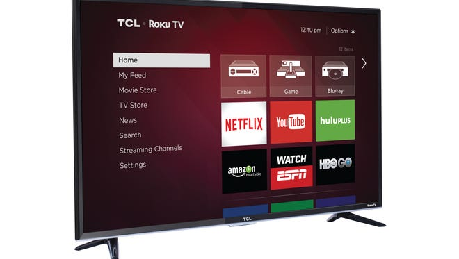 A photo of the 50-inch RCL Roku TV.
