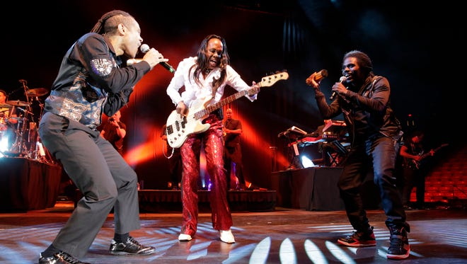 Members of the group Earth, Wind & Fire performed at the Don Haskins Center on Nov. 5.. Performing to a near soldout crowd, the group wasted no time getting fans out of their seats and on the floor dancing.
