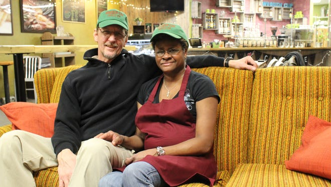 Jim and Bonnie Galloway are the new owners of Wooden Cup Coffee Co. in Rothschild.