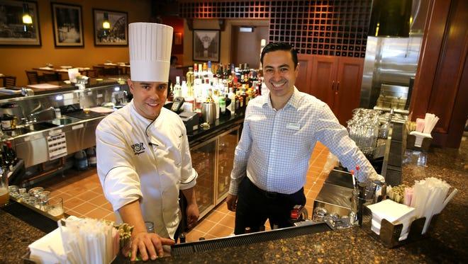 Pub by Wegmans executive chef Joseph DeVito, left, and restaurant manager Jigmed Latshang.
