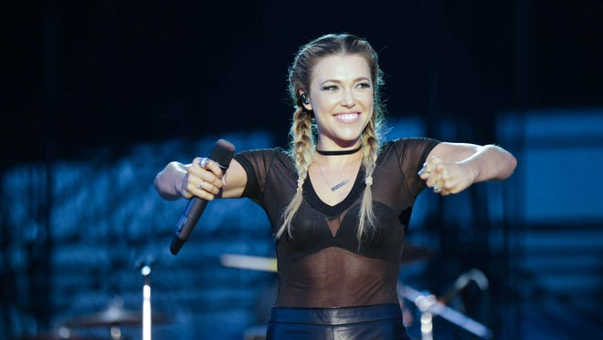 Rachel Platten performs at the Farm Bureau Insurance Lawn, at White River State Park on Sunday.