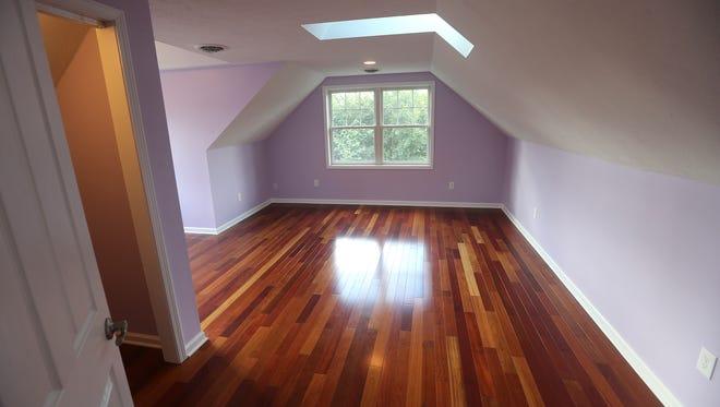Hardwood flooring.