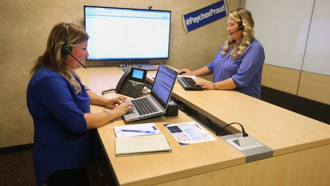 Hilary Crawford (L) and Chelsea Klan are multi-product service center implementation specialists at Paychex.