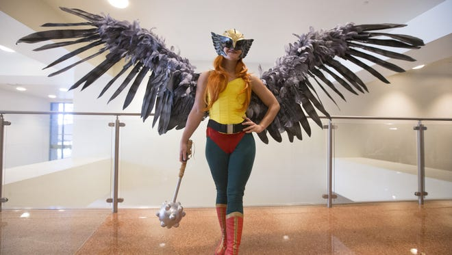 Alexis Noriega, 29, of Phoenix, dresses as Hawkgirl during the Phoenix Comicon Fan Fest at the Phoenix Convention Center on  October 22, 2016.