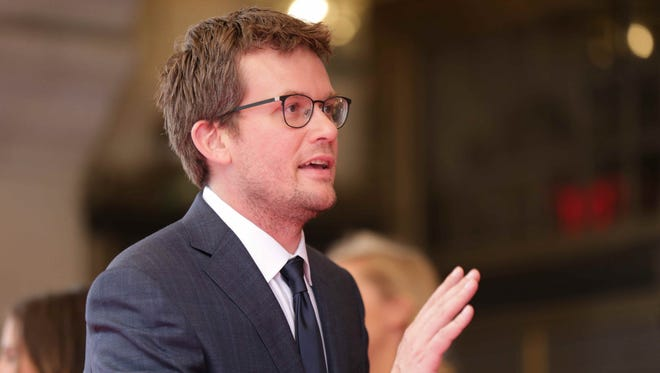 Author  John Green walks the red carpet for the KeyBank 500 Festival Snakepit Ball on May 28.