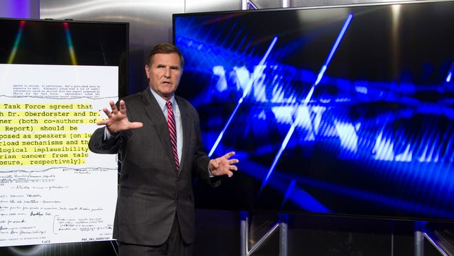 """Pensacola attorney Mike Papantonio during filming of his new show """"America's Lawyer."""""""