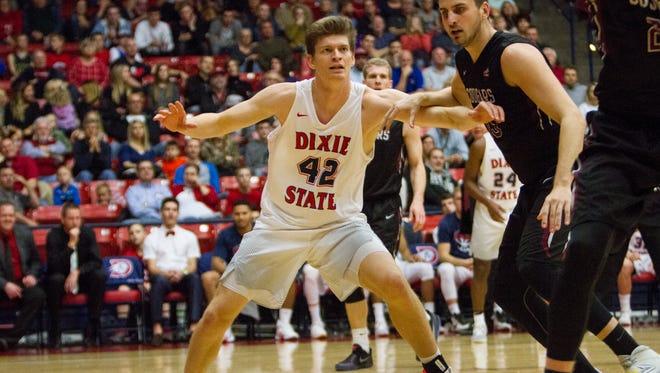 Dixie State basketball beats Azusa Pacific 67-62 Saturday, Jan. 21, 2017.