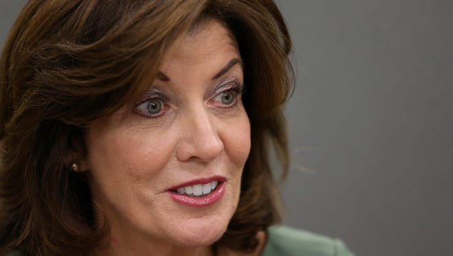"""New York state Lt. Governor Kathy Hochul speaks with the Editorial Board at the """"Democrat and Chronicle"""" on Wednesday."""