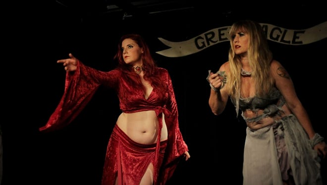 "Dancers Elle Arlette and Crys Avasa perform in Browncoat Bellydance's ""Once Upon a Time in Westeros: A Bard's Tale"" event in Asheville, North Carolina. The event will come to Knoxville on July 14."