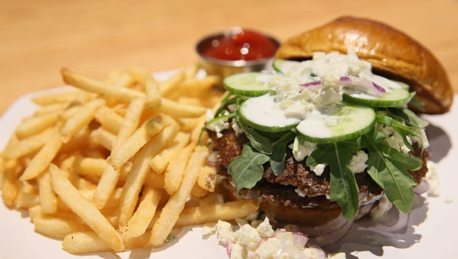 The Greek Goddess might be queen of the smash burgers at BistroPlex at Southridge Mall in Greendale: double lamb patties with feta, yogurt sauce, cucumber, arugula and red onion.