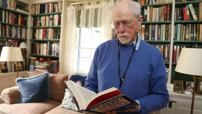 Michael Korda at his home in Pleasant Valley on April 26, 2018.  Korda has been named honorary chairman of the Millbrook Literary Festival which takes place on May 19.