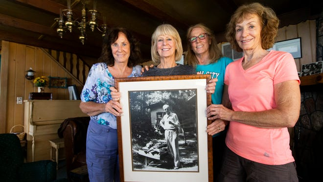 From left: Maryagnes Steininger Luchini, Patti Steininger, Kathy Steininger Colley and Jeanne Steininger Gorecki are grandchildren of Daniel Hoan, Milwaukee's 32nd mayor. The Steiningers came to Hoan's cottage every summer as children and are now the owners. This summer, the Steininger family is celebrating the 100-year anniversary of the home belonging to the family.