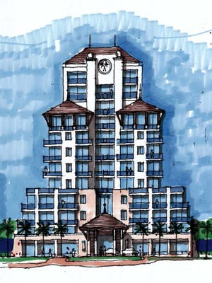 Artist rendering of the proposed Orchid Beach Hotel and Resort. Developer George Heaton wants to build on the site of the old Radisson Hotel, 2600 N. State Road A1A.