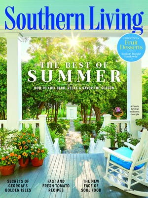 Southern Living Magazine June 2018 cover.