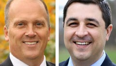 Attorney General candidates Brad Schimel (left) and