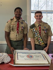 Eagle Scouts James Izlar and Todd Jobson.