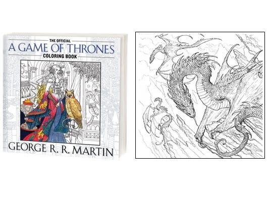 Download this free adult coloring page from the official 'Game of Thrones' adult coloring book.