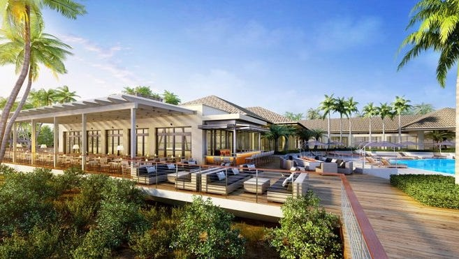Rendering of Hilton Marco Island Beach Resort & Spa renovation plans for 2016.