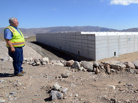 Dean Haymore, development director for Storey County, looks over the new 700,000 square foot Zulily building under construction Thursday in the Tahoe Reno Industrial Center.