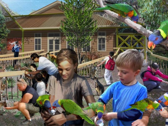 The Outback Adventure Center is a new exhibit planned at The Living Desert and will offer visitors a chance to interact with lorikeets and wallabies.