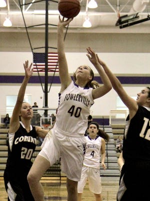 Lexa Elzerman scored six points in a losing effort for Fowlerville in a loss at South Lyon East on Tuesday night.