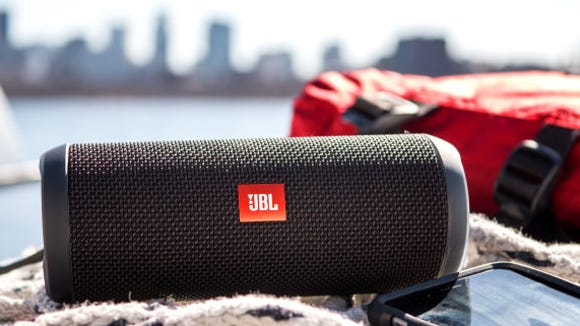 This smart speaker is perfect for any outdoor adventure.