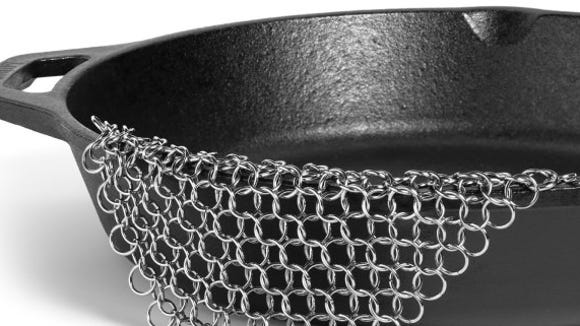 Amagabeli Cast Iron Chainmail Scrubber