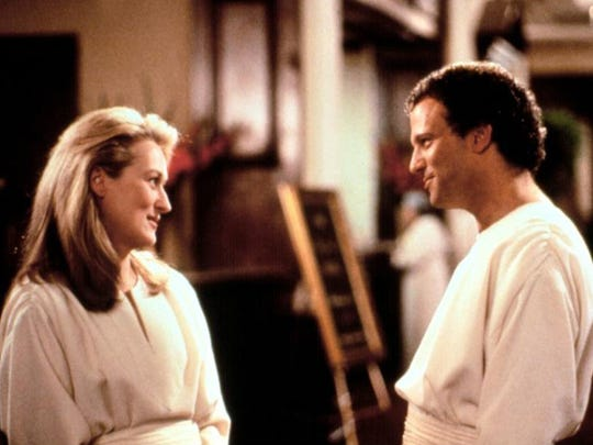 """Meryl Streep and Albert Brooks star in the 1991 comedy film """"Defending Your Life."""""""