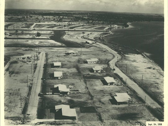 The first eight houses in Cape Coral from 1958.