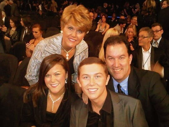 McCreery family in 2012, counterclockwise from top