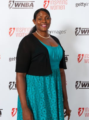 Kym Hampton poses during the WNBA Inspiring Women Luncheon at Pier Sixty at Chelsea Piers on Sept. 10, 2012, in New York City. Hampton leads all ASU basketball players in career scoring (2,361 points) and rebounds (1,415).