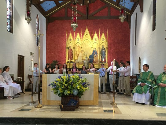 A special mass was held at the beginning of St. Elizabeth's