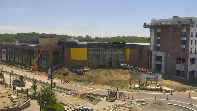 Construction continues Thursday on the Xtream Arena & GreenState Family Fieldhouse a $71.3 million complex -- which will feature a 6,000-seat arena, fieldhouse and mixed-use/museum building.
