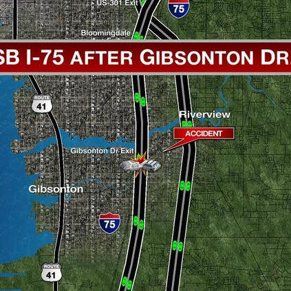A pedestrian was hit and killed on southbound I-75