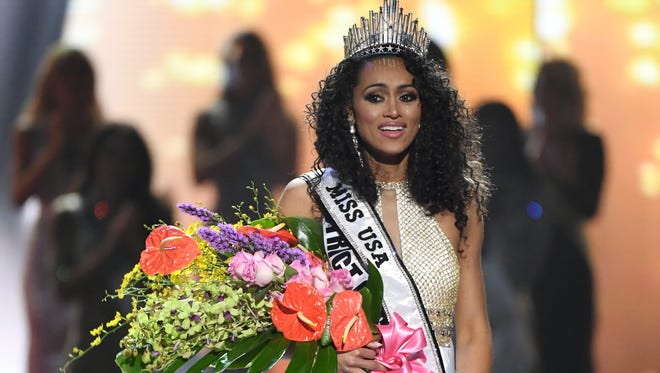 McCullough's happy onstage moment after being crowned Miss USA.